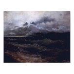 """Ships In Stormy Seas Sunrise By Aiwasowskij Iwan K 4.25"""" X 5.5"""" Invitation Card"""