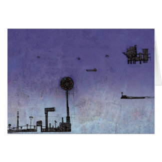 Ships in the Night Greeting Card