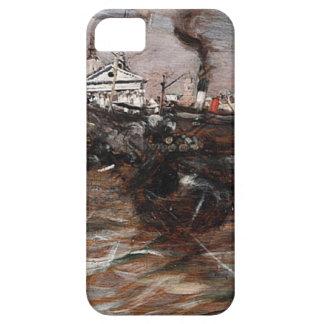 Ships in Venice by Giovanni Boldini iPhone SE/5/5s Case