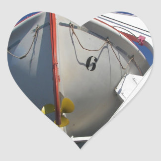 Ship's Lifeboat Heart Sticker