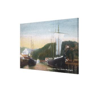 Ships Loading Lumber Canvas Print