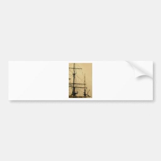 Ships mast bumper sticker