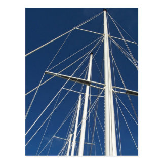 Ships Masts & Rigging Postcard