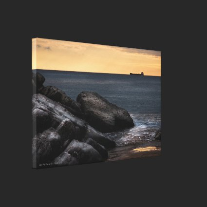 Ships May Come and Go - wrapped canvas Canvas Prints