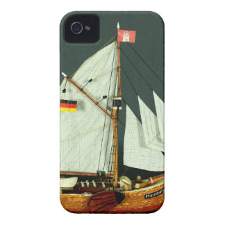 Ship's model 1-mast Ewer iPhone 4 Case-Mate Case