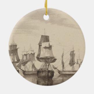 Ships of 26th June 1776 Ceramic Ornament