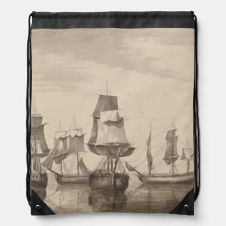 Ships of 26th June 1776 Drawstring Backpack