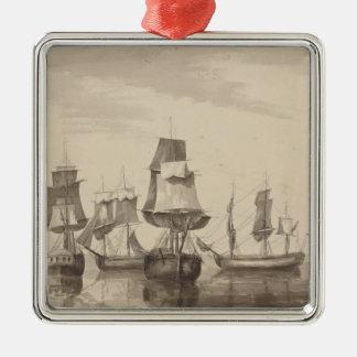 Ships of 26th June 1776 Metal Ornament