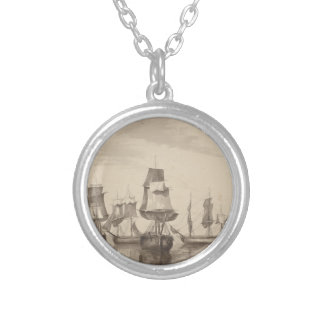 Ships of 26th June 1776 Silver Plated Necklace