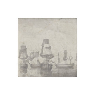 Ships of 26th June 1776 Stone Magnet