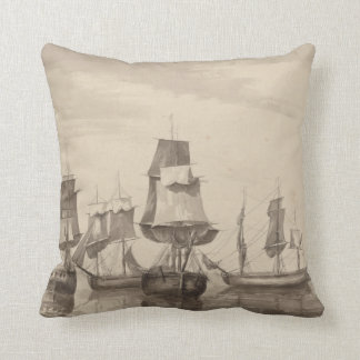 Ships of 26th June 1776 Throw Pillow
