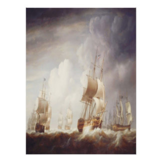 Ships of the East India Company at Sea Poster