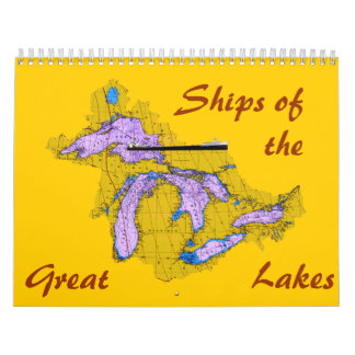 Ships of the Great Lakes Wall Calendar