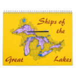 Ships of the, Great, Lakes Calendar