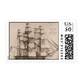 Ships of the US Navy, Constellation under sail Postage