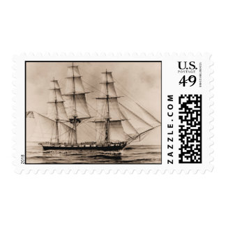 Ships of the US Navy, Erie 1814 Postage