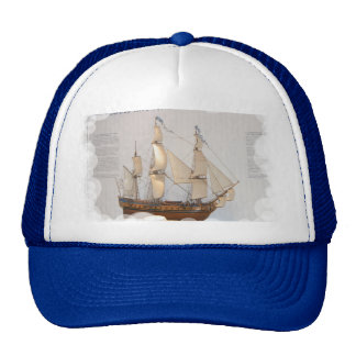 Ships of World Explorers, Louis Antoine de Bourgai Trucker Hat