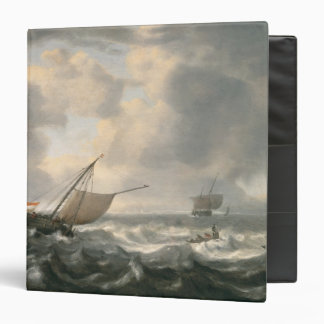 Ships on a Choppy Sea 3 Ring Binders