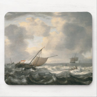 Ships on a Choppy Sea Mouse Pad