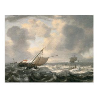 Ships on a Choppy Sea Postcard