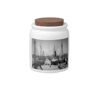 Ships on the Belle River Marine City Michigan Candy Dish