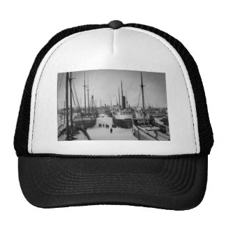 Ships on the Belle River Marine City Michigan Trucker Hat