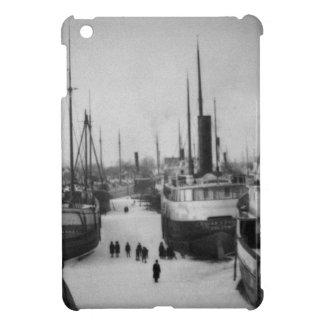 Ships on the Belle River Marine City Michigan iPad Mini Cases