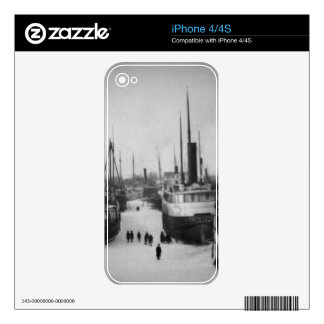 Ships on the Belle River Marine City Michigan iPhone 4S Decal