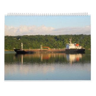 Ships On The Hudson River 2016 Calendar