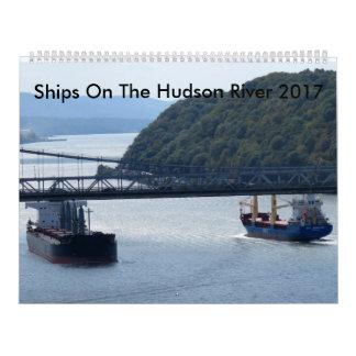 Ships On The Hudson River 2017 Calendar