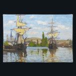 "Ships Sailing on the Seine at Rouen Claude Monet Cloth Placemat<br><div class=""desc"">Ships Sailing on the Seine at Rouen Claude Monet cool,  old,  master,  masterpiece,  fine,  retored,   impressionism,  paint,  painting,  vibrant,  saturated,  colour,   beautiful,  nice,  quality,  high,  resolution,  landscape,  scenery,   post,  decoration,  colors,  paris,  france,  renewed best,  seller,  colourful, cheap</div>"