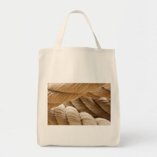 Ships twisted rope. canvas bags