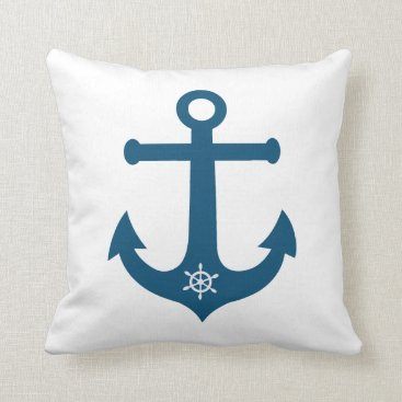 Beach Themed Ships wheel and anchor riversible design on each throw pillow