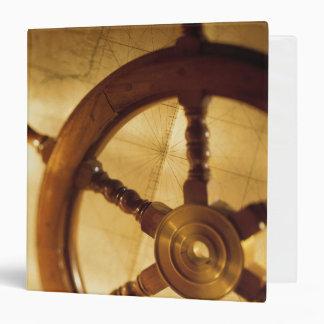 Ship'S Wheel And Map Binder