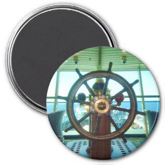 Ship's Wheel Refrigerator Magnet