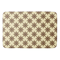 Ship's Wheel Nautical Pattern Bathroom Mat
