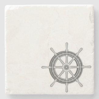 Ships Wheel Nautical Stone Coaster