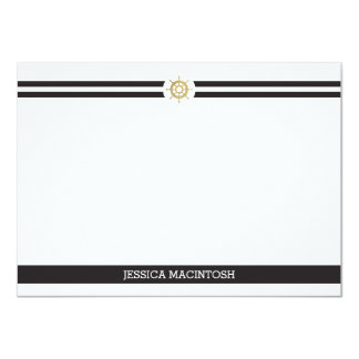 Ships Wheel Note Cards Personalized Announcements