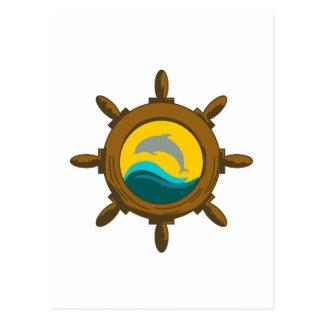 SHIPS WHEEL POST CARD