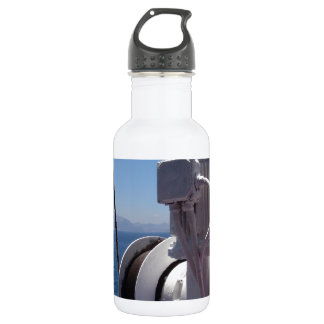 Ship's Winch And The African Coast Stainless Steel Water Bottle