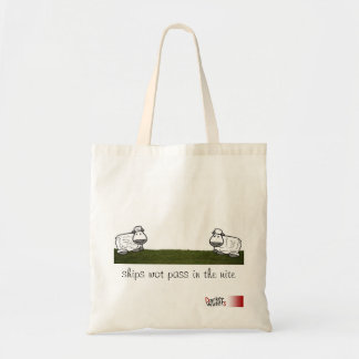 ships wot pass in the nite tote bag