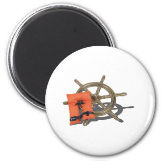 ShipWheelLifeVest082612.png 2 Inch Round Magnet