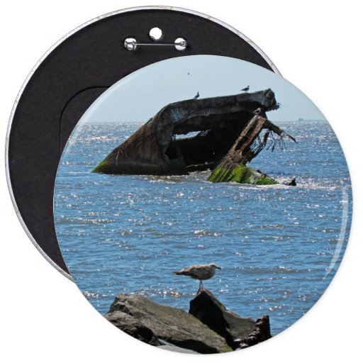 Shipwreck 6 Inch Round Button