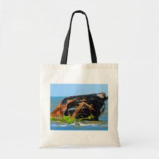 Shipwreck Abstract Blue Tote Bag