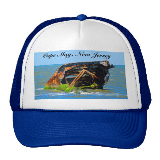 Shipwreck Abstract Blue Trucker Hat