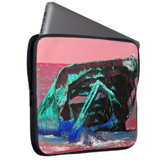 Shipwreck Abstract Pink Laptop Sleeve