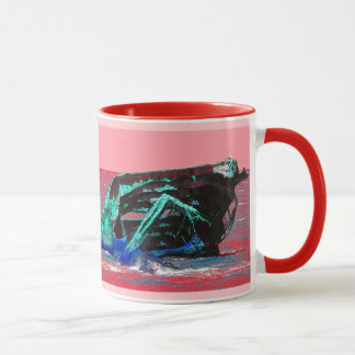 Shipwreck Abstract Pink Mug