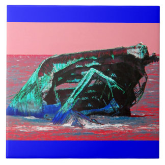 Shipwreck Abstract Pink Tile