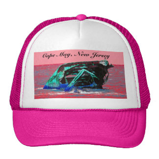 Shipwreck Abstract Pink Trucker Hat