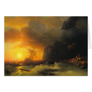 Shipwreck at Mount Athos Ivan Aivasovsky seascape Card